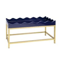 Navy Lacquered Tray Table