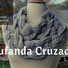 Tutorial #164: Como tejer una Bufanda Cruzada a Ganchillo o Croche