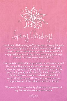 Vibrational Energy - Affirmation - Spring Blessings by CarlyMarie My long term illness is finally going away, and I think I might have found the love of my life. Positive Thoughts, Positive Vibes, Positive Mind, Positive Living, Journaling, Mind Body Soul, Inner Peace, Positive Affirmations, Healing Affirmations