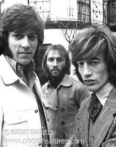 Bee Gees: Barry Gibb, Maurice Gibb and Robin Gibb. Our most pinned photo!! Bee Gees prints at http://chris-walter.pixels.com/collections/bee+gees