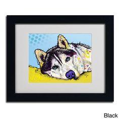 Dean Russo 'Siberian Husky II' Framed Matted Art