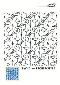 I don't understand what it's saying but there are some cool tesselations on here Mc Escher Art, Escher Tessellations, Tesselations, Drawing Activities, Math Art, Chalk Pastels, Art Graphique, Linocut Prints, Art Plastique