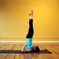 Looking up!...Strike a Yoga Pose: Shoulderstand AKA The Pose that Boosts Energy and Cures Headaches