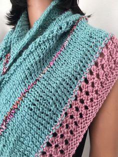 Hand Knits 2Love Shawl Triangle Wrap Designer Fashion Tassels Spring Summer Hip  #HandKnits2Love #ShawlWrap