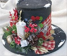 Love these Christmas centerpieces! These handmade Christmas decorations are perfect for Christmas entertaining.