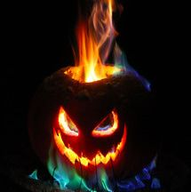 This is how to make the best Halloween jack o lantern. This jack o lantern features a long lasting flamethrower tower of flame, plus you can customize the color of the fire.