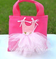 Ballerina Tutu Tote Gift Bag Ballet Party by FairyTotesCouture