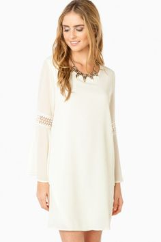 Tyndal Shift Dress in Ivory