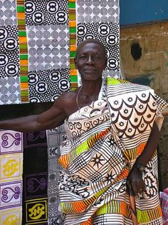 Adinkra fabric painting in Ghana; learn traditions and meanings plus have the kids do their own with cut-out sponges!