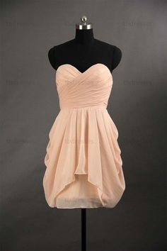 sweetheart peach color short prom dresses.cheap prom by tbdresses, $88.00