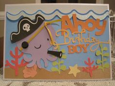 create a critter 2 pirate ghost Birthday card | Anyways... here is the card... Ahoy, Birthday Boy!: