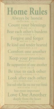 Home rules for-the-home