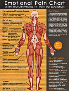 This Emotional Pain Chart Shows You Where Your Negative Emotions Manifest On Your Body. Holistic Health Tips for Beginners, Pain Relief Health Tips, Health And Wellness, Health Fitness, Mental Health, Health Chart, Health Exercise, Fitness Tips, Fitness Motivation, Health Anxiety