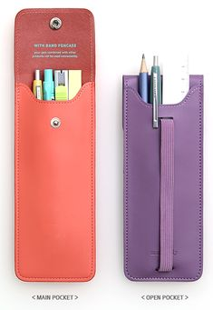 $20 | Attachable Leather Pen Case, great for moleskines and creative people. I could #DIY it.