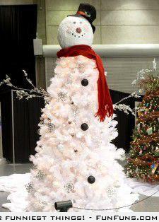 10 Christmas Tree Snowman