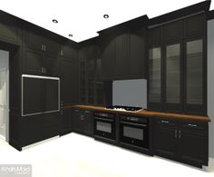 rendering of kraftmaid cabinetry for the house beautiful natural grey polished concrete floor system concreate