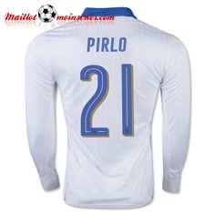 66e4fb313a52 2016 Italy Soccer Team PIRLO Long Sleeve Away Jersey