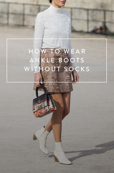 Sorry but You're Wearing Your Ankle Boots All Wrong. Here's the right way to wear ankle boots without your socks showing.