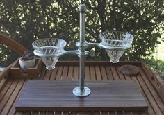 Double Pour Over Coffee Stand  Industrial by MaderaSupplyCompany
