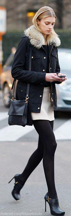 Street Style! com cores neutras é impossível errar
