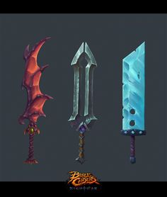 ArtStation - Battle Chasers Nightwar - Garrison's Swords, Ayhan Aydogan