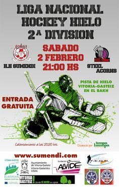 Cartel diseñado para el equipo de 2ªdiv de hockey hielo del Club deportivo Sumendi www.sumendi.com