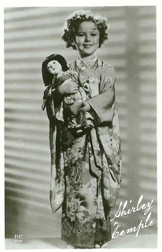 Shirley Temple and Japanese dolls