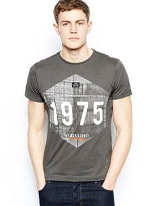 Jack & Jones T-Shirt With 1975 Container Print