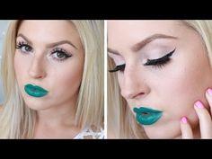 Shaaanxo ♡ Bright Grey Eyes & Dark Green Lips! ♡ Melt Blow - YouTube