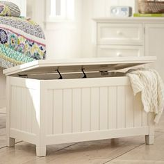 Beadboard End Of Bed Trunk #pbteen