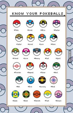 Who remembers the names of all Pokéballs? where is the dark ball??