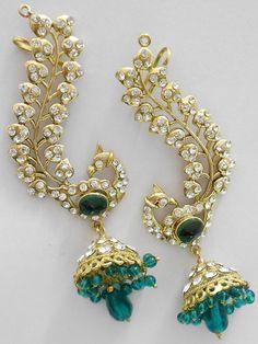 Peacock earrings at http://www.khushrang.com