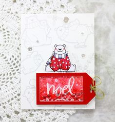 Tag shaker card |MFT Polar Bear Pals Stamp set