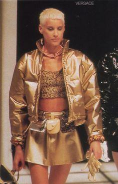 #Versus #Versace #F/W 1994 #Ève Salvail #1994