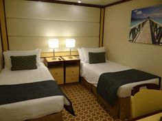 Photo gallery and details of some of the 6 different types of cabins and suites on the Regal Princess cruise ship of Princess Cruises
