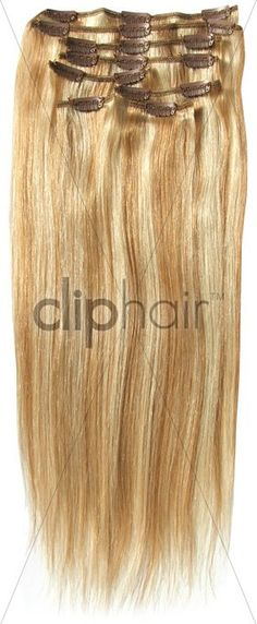 Clip in hair extensions - Colour #27/613 (strawberry blonde with Bleach Blonde Mix)      Product Link: http://www.cliphair.co.uk/Blonde-Mix-Hair-Extensions-27-613/    #Hair#Extensions