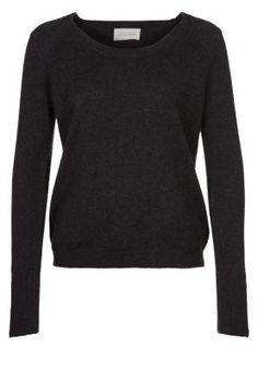 LAMPASAS - Maglione - nero 140 euros , 120 en saldo 100% lana