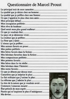 Pin by Isabelle Raviat on pédagogie Marcel Proust, Proust Questionnaire, Einstein, French Classroom, Teaching French, Learn French, Some Words, Positive Attitude, Language