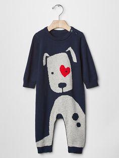 Gap Puppy love sweater one-piece Little Fashion, Boy Fashion, Dream Kids, Rock A Bye Baby, Cute Little Boys, Baby Time, Stylish Kids, Baby Gap, Kids Wear