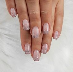 70 Wedding Natural Gel Nails Design Ideas for Bride 2019 Nails Art Nails Nail designs Cute Nails, Pretty Nails, My Nails, Classy Gel Nails, S And S Nails, Kiss Nails, Neon Nails, Yellow Nails, Hair And Nails