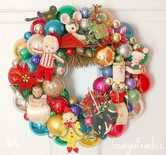Vintage Wreath - a little crazy, but would make me smile.