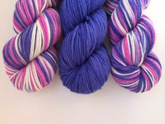 Purple Princess  Hand dyed 8ply pure Merino by DoOrDyeYarns, $63.00
