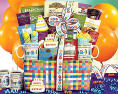 Happy BirthdayGift Basket - Item No: 525