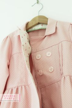 Precious pink coat handmade from Japanese pattern and fabric- great blog too