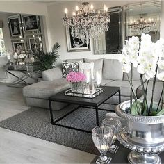 Different than my decorating style but still beautiful. Modern but still luxurious and sophisticated!