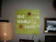 Barnwood wall decor sign