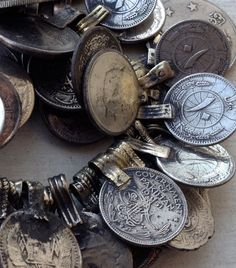 Pakistani Coins: Assemblage Supplies, Tribal Belly Dance. $19.50, via Etsy.