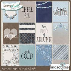 Almost Winter Journal Cards :: Gotta Pixel Digital Scrapbook Store by Lindsay Jane $2.00