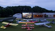 Disney offered an advanced screening of the movie Planes at EAA AirVenture. While there were no airplanes lined up for the viewing, thousands of aviation enthusiasts filled the field.