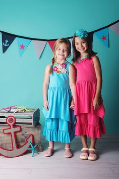 The #ss17 Secret Pockets Dress Sets in red and blue, from @lemonloveslime. www.lemonloveslime.com
